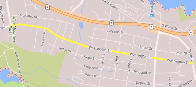 Wash St repaving map